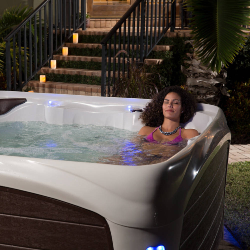 Woman Relaxing in a Dream Maker Spa