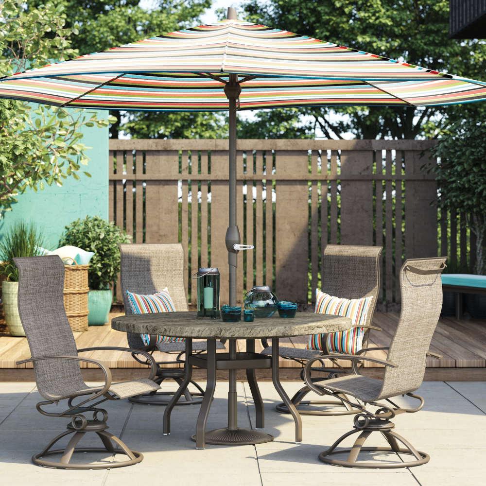 Homecrest outdoor umbrella and table set