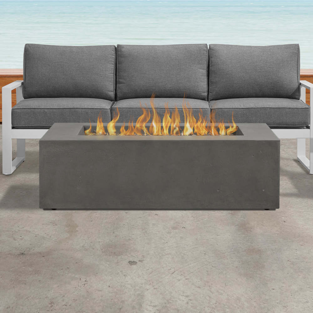 Realflame firepit & outdoor couch