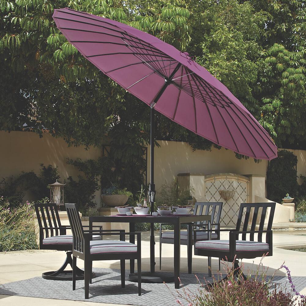 Treasure Garden Purple Umbrella