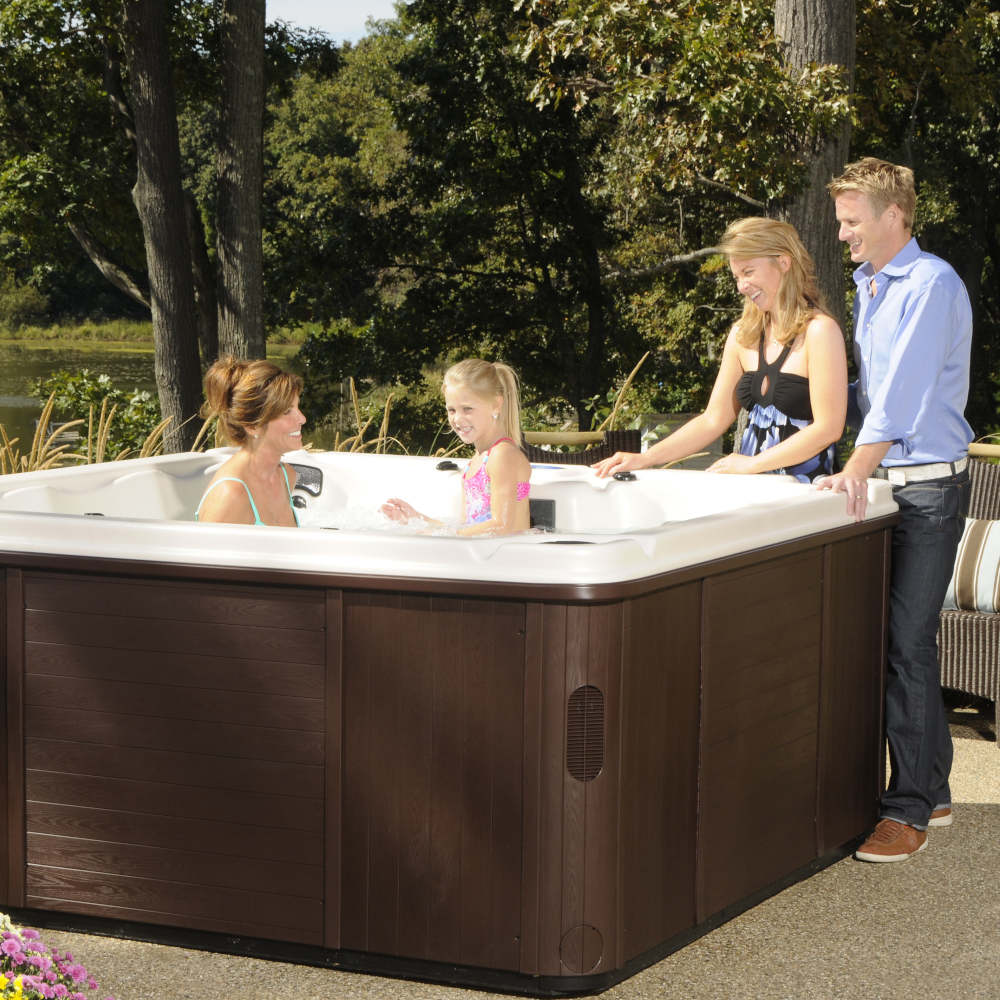 Family Enjoying Viking Spa